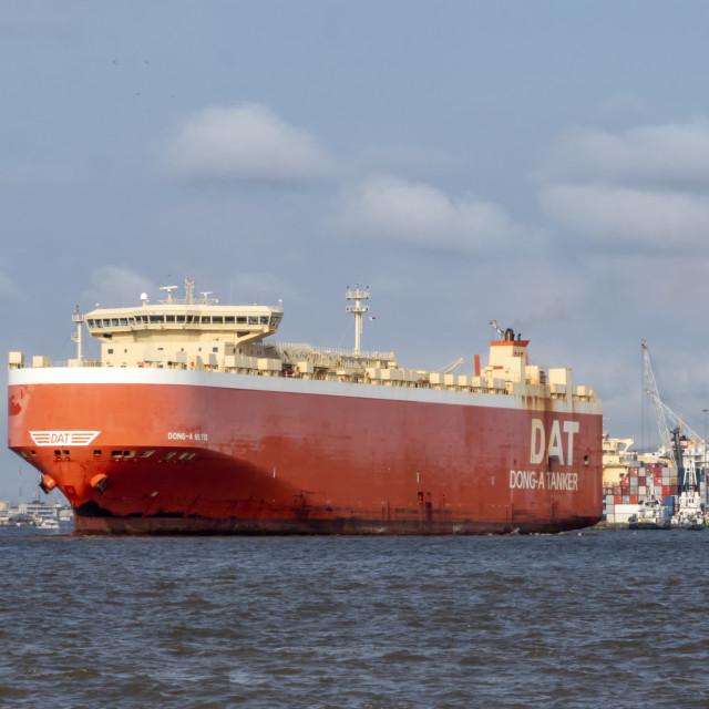 """Ship leaving port"" stock image"