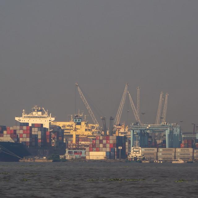 """Lagos port"" stock image"