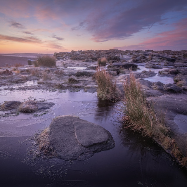 """""""First Frost on Higger Tor"""" stock image"""