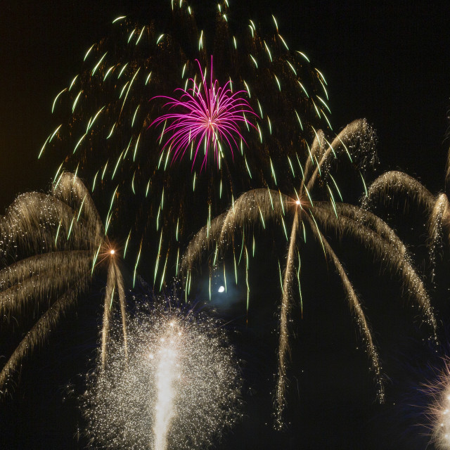 """Swansea city's 50th anniversary firework display"" stock image"