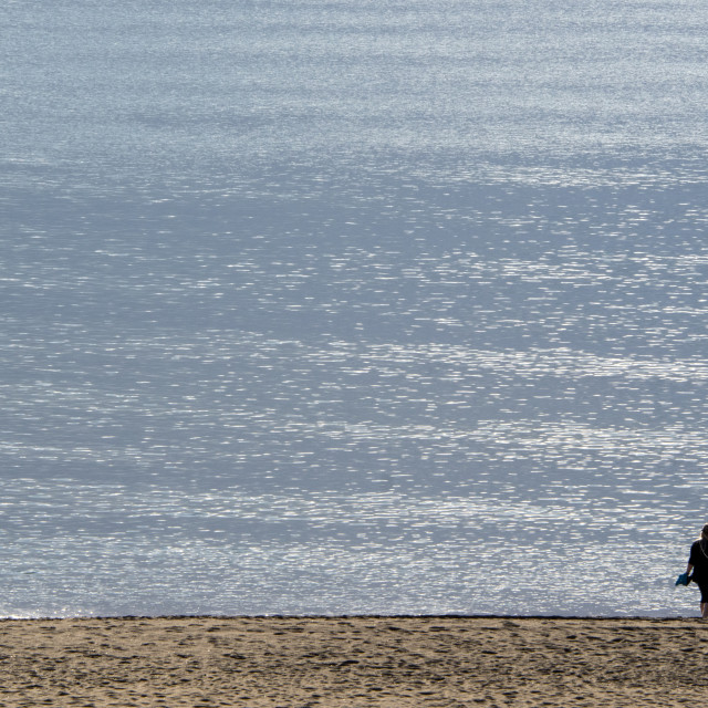 """Mediterranean beach"" stock image"