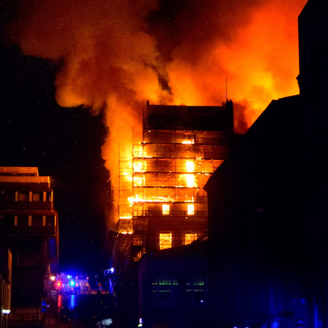 """Glasgow School of Art Fire 2018"" stock image"