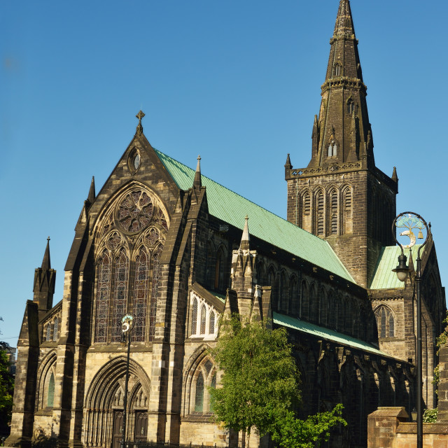 """Glasgow Cathedral"" stock image"