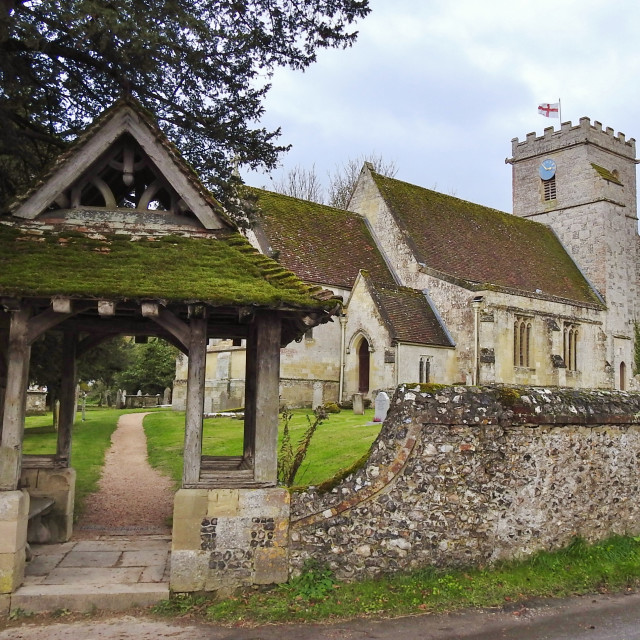 """The parish Church."" stock image"