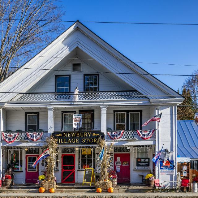 """Charming village store, Newbury, Vermont"" stock image"