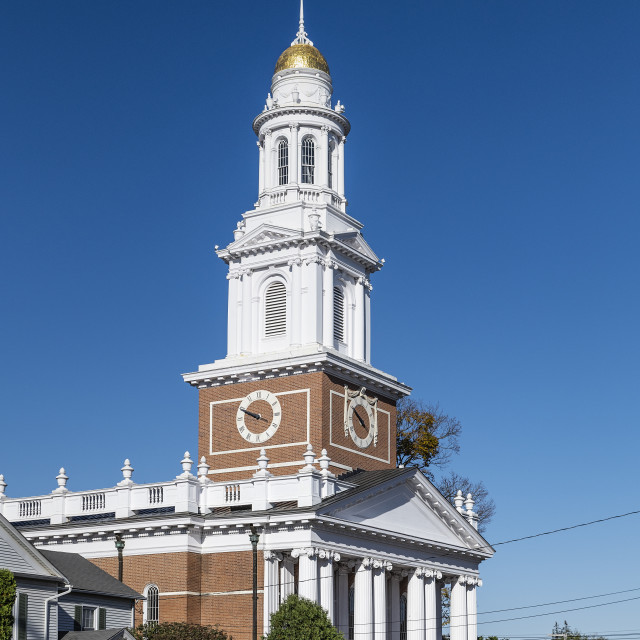"""Fist Congregational Church, Danbury, Connecticut"" stock image"