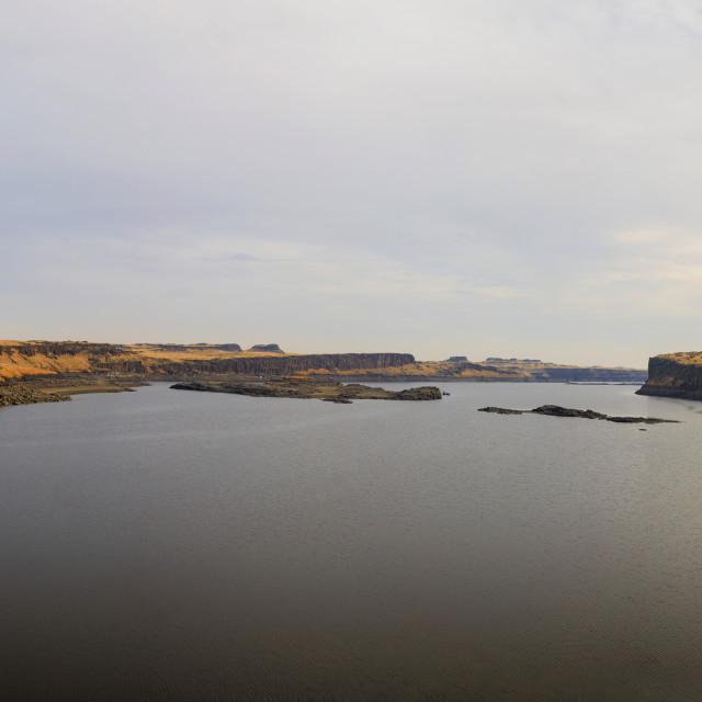 """Soda Lake Panorama, Washington"" stock image"