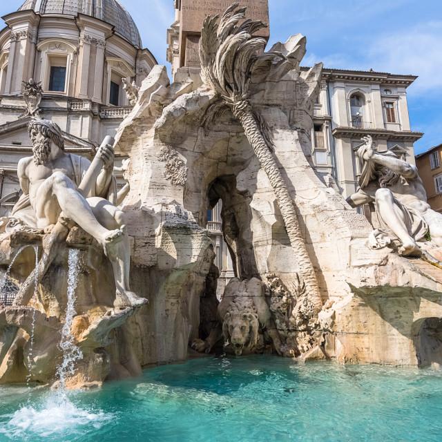 """""""Fontana dei quattro fiumi"""" stock image"""