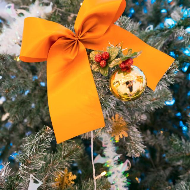 """""""Large decorative orange ribbon"""" stock image"""