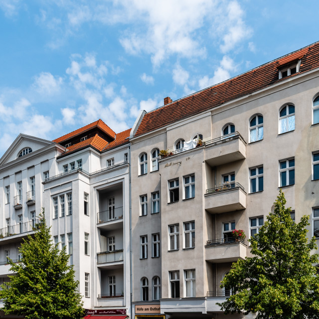 """Typical buildings in Kreuzberg quarter. Kreuzberg is one of the cultural centers of Berlin"" stock image"