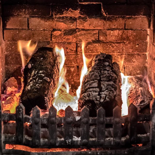 """Log Fire"" stock image"