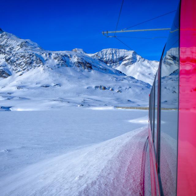 """""""Bernina Express."""" stock image"""