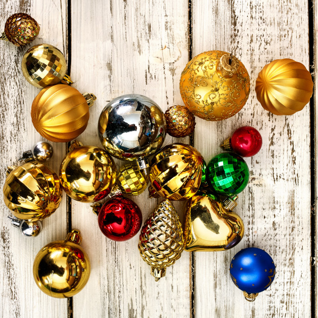"""Christmas decorations design of Xmas balls ornaments"" stock image"