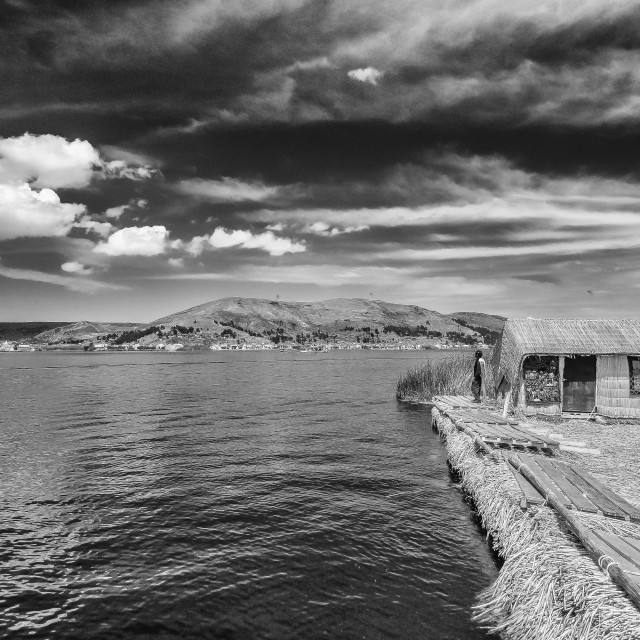 """The Titicaca lake, Peru."" stock image"