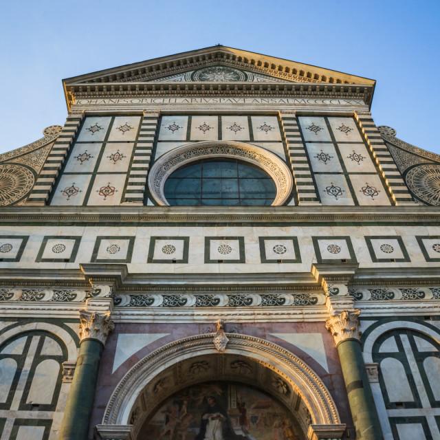 """Basilica of Santa Maria Novella in Florence, Tuscany, Italy"" stock image"