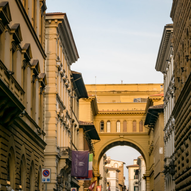 """""""The beautiful streets of Florence, Tuscany, Italy"""" stock image"""