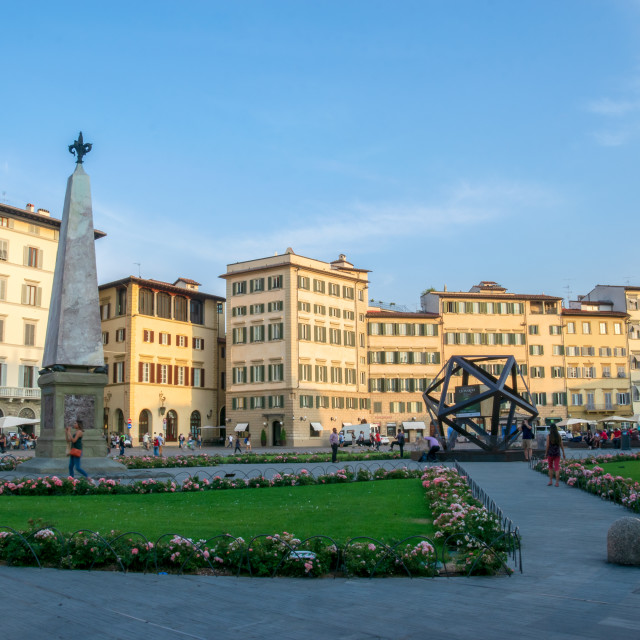 """""""The square of Maria Novella in Florence, Tuscany, Italy"""" stock image"""