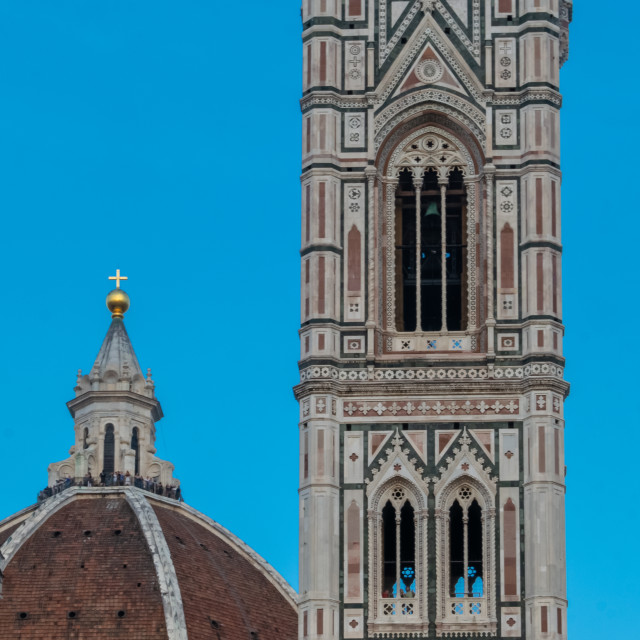 """""""The tower of Cathedral of Santa Maria del Fiore in Florence, Tuscany, Italy"""" stock image"""