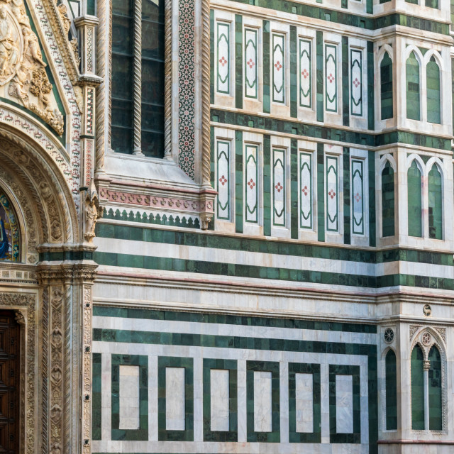 """""""The lateral walls of Cathedral of Santa Maria del Fiore in Florence, Tuscany, Italy"""" stock image"""