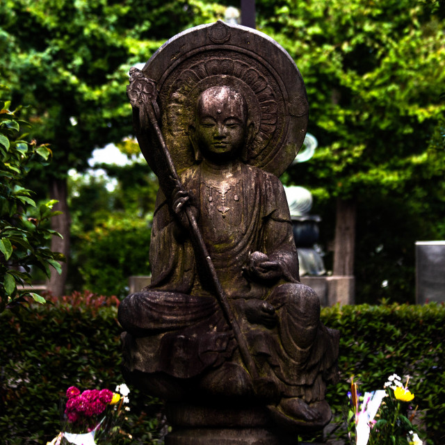 """Buddha Statue on the Grounds of Sensoji Japan"" stock image"