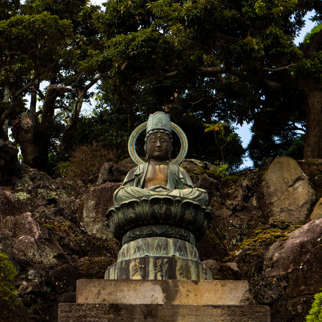 """Buddha Statue in Naritasan Shinsoji Temple Japan"" stock image"