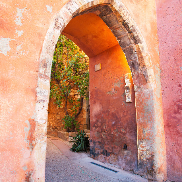 """Archway, Roussillon, Provence, France"" stock image"