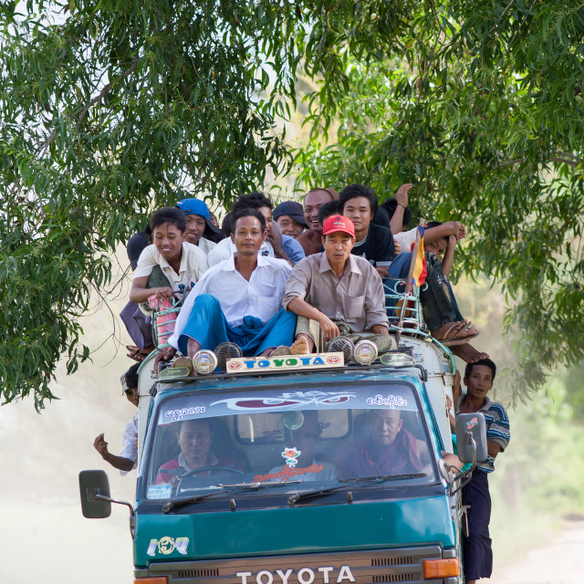 """Commuters, Mandalay, Myanmar"" stock image"