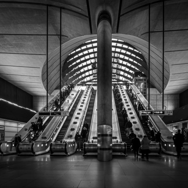 """Canary Wharf Escalator"" stock image"