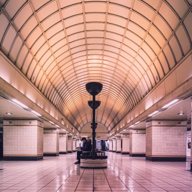 """Gants Hill Station"" stock image"