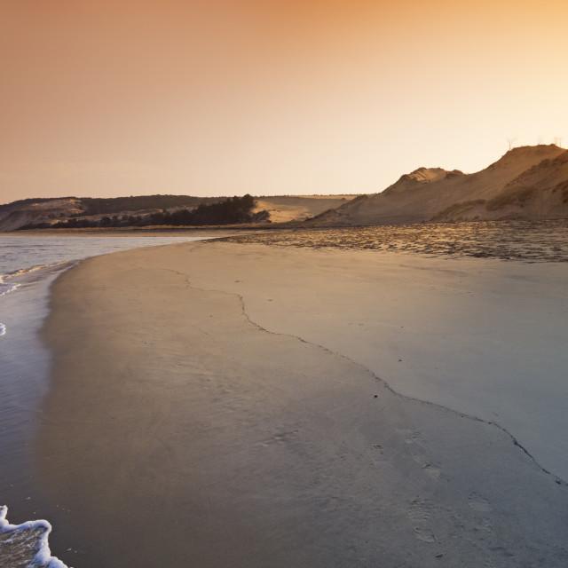 """Petit nice sunrise"" stock image"