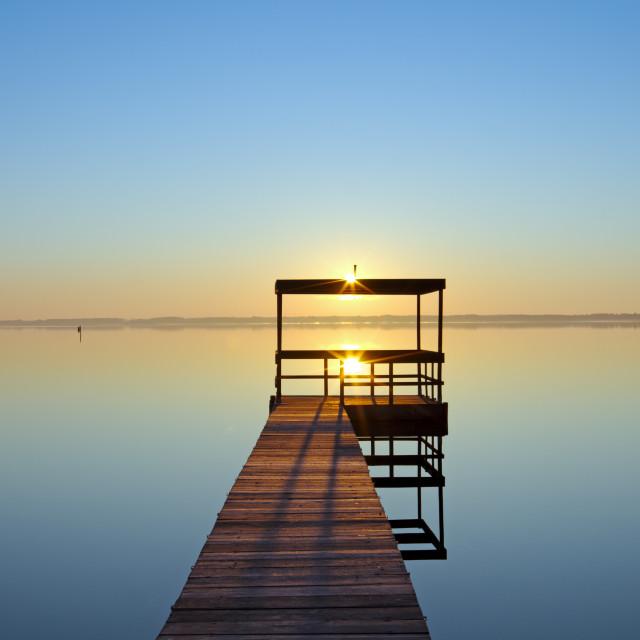 """Wooden Pier"" stock image"