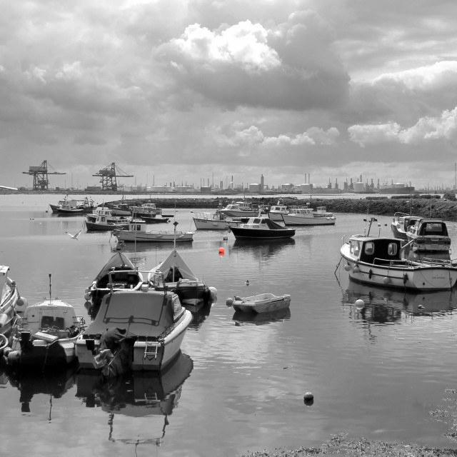 """""""Paddy's Hole, South Gare Redcar."""" stock image"""