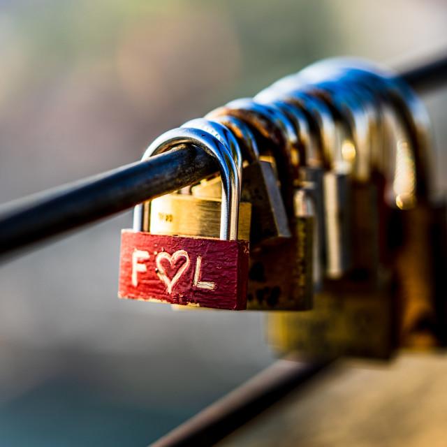 """""""Locked in love"""" stock image"""