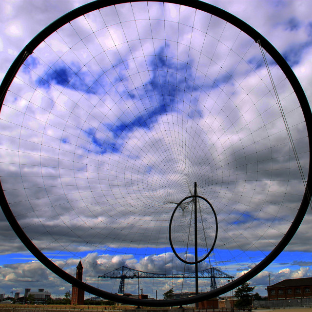 """Dramatic sky over Middlesbrough's Temenos."" stock image"