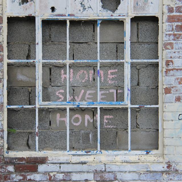 """Ironic Home Sweet Home"" stock image"