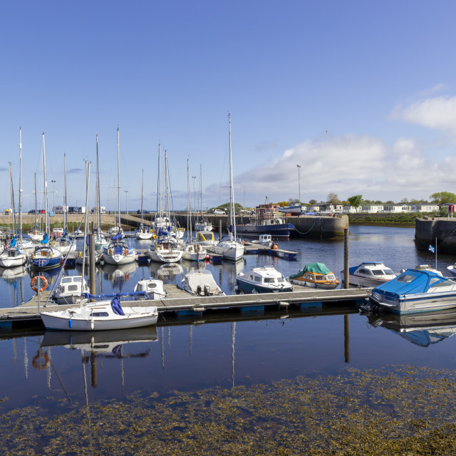 """Nairn Harbour in Scotland"" stock image"