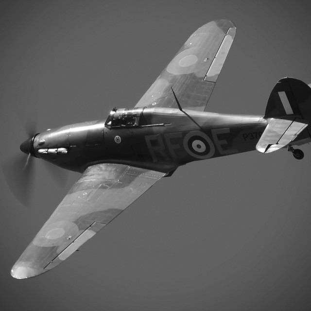 """Hawker Hurricane MK.1"" stock image"