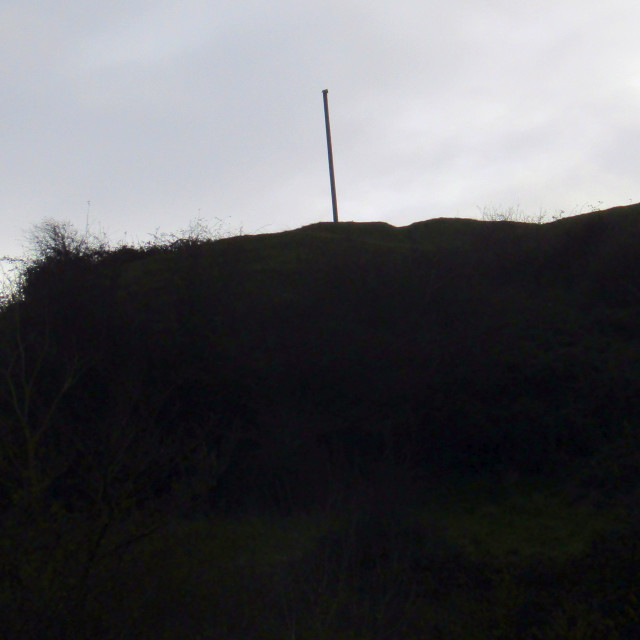 """""""Top of Brent Knoll on a windy day"""" stock image"""