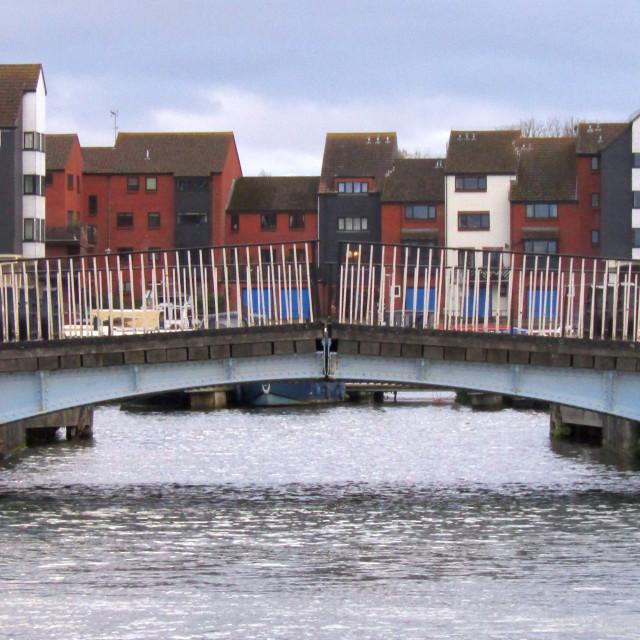"""""""Housing at Bridgwater Docks"""" stock image"""