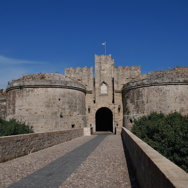 """""""Amboise Gate, Rhodes Old Town"""" stock image"""