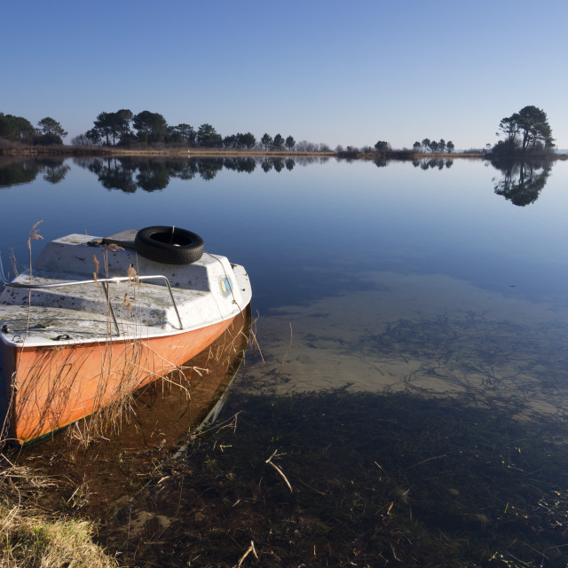 """Biscarrosse lake"" stock image"