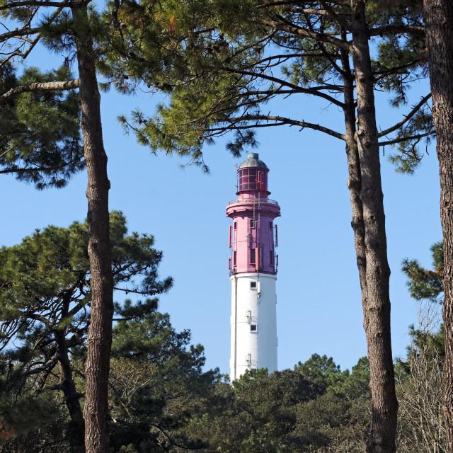 """Cap Ferret lighthouse"" stock image"