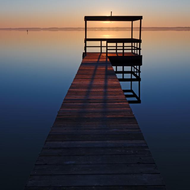 """light on pier"" stock image"