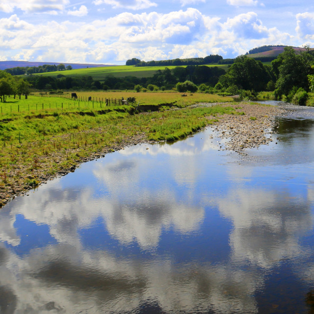 """""""River Coquet, Northumberland"""" stock image"""