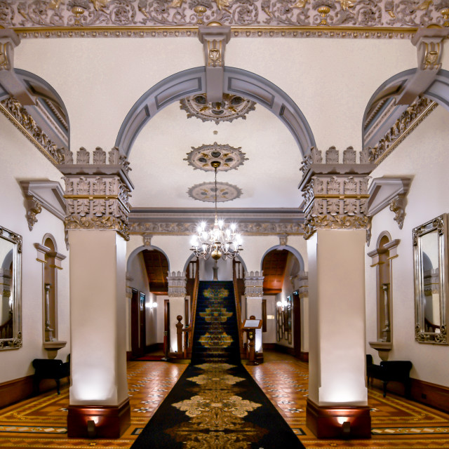 """Curzon Hall"" stock image"