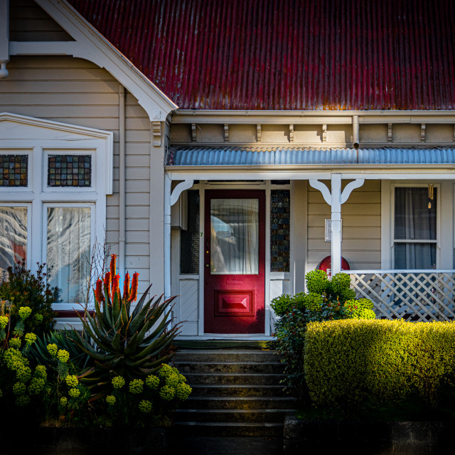 """""""Christchurch Cottage"""" stock image"""