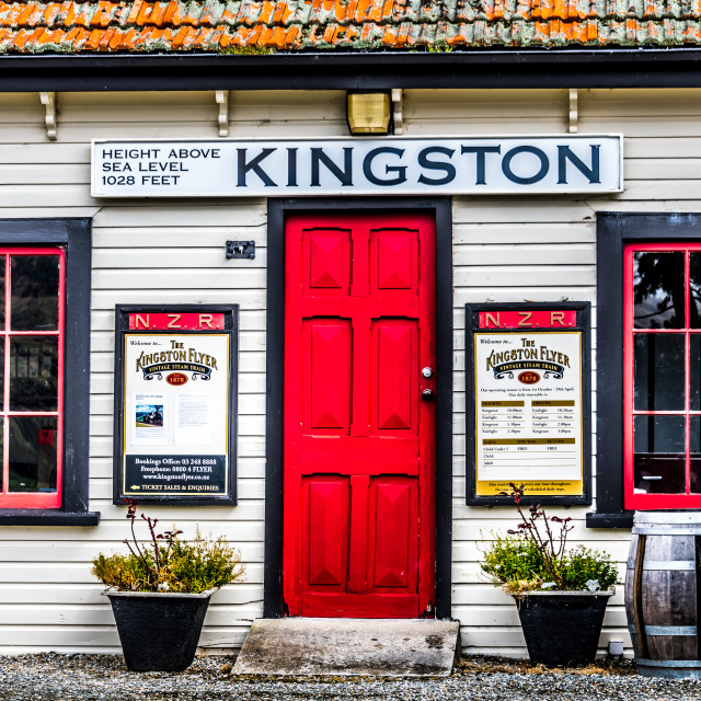 """""""The Cafe at Kingston"""" stock image"""