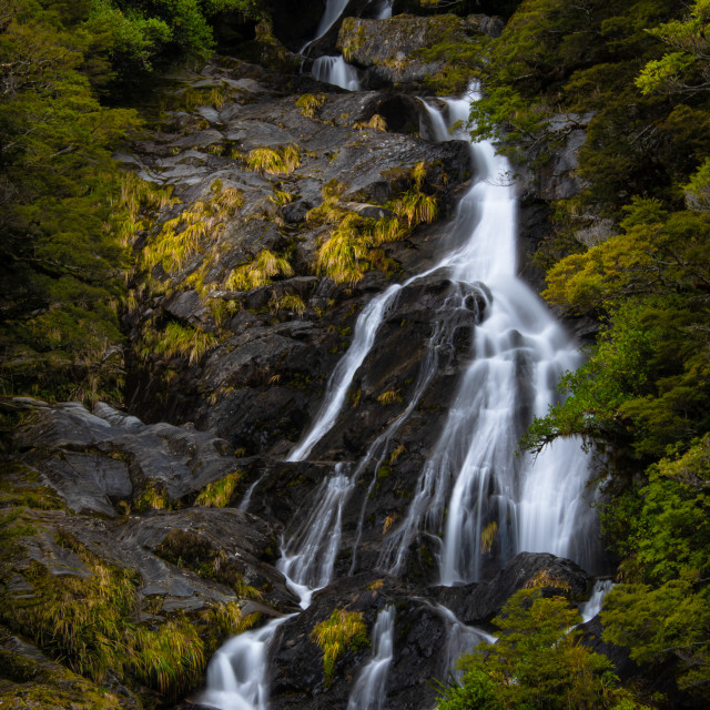 """""""Cascades Spring Waterfall"""" stock image"""
