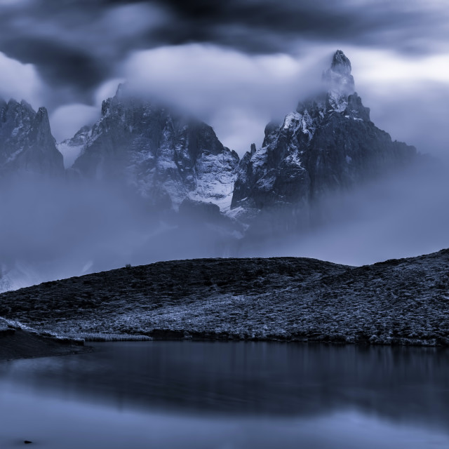 """Mysterious peaks"" stock image"