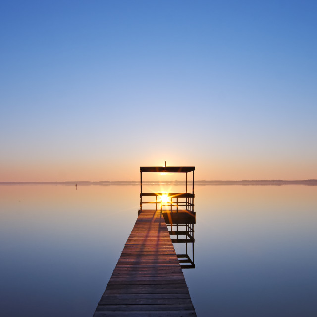 """Calm morning"" stock image"